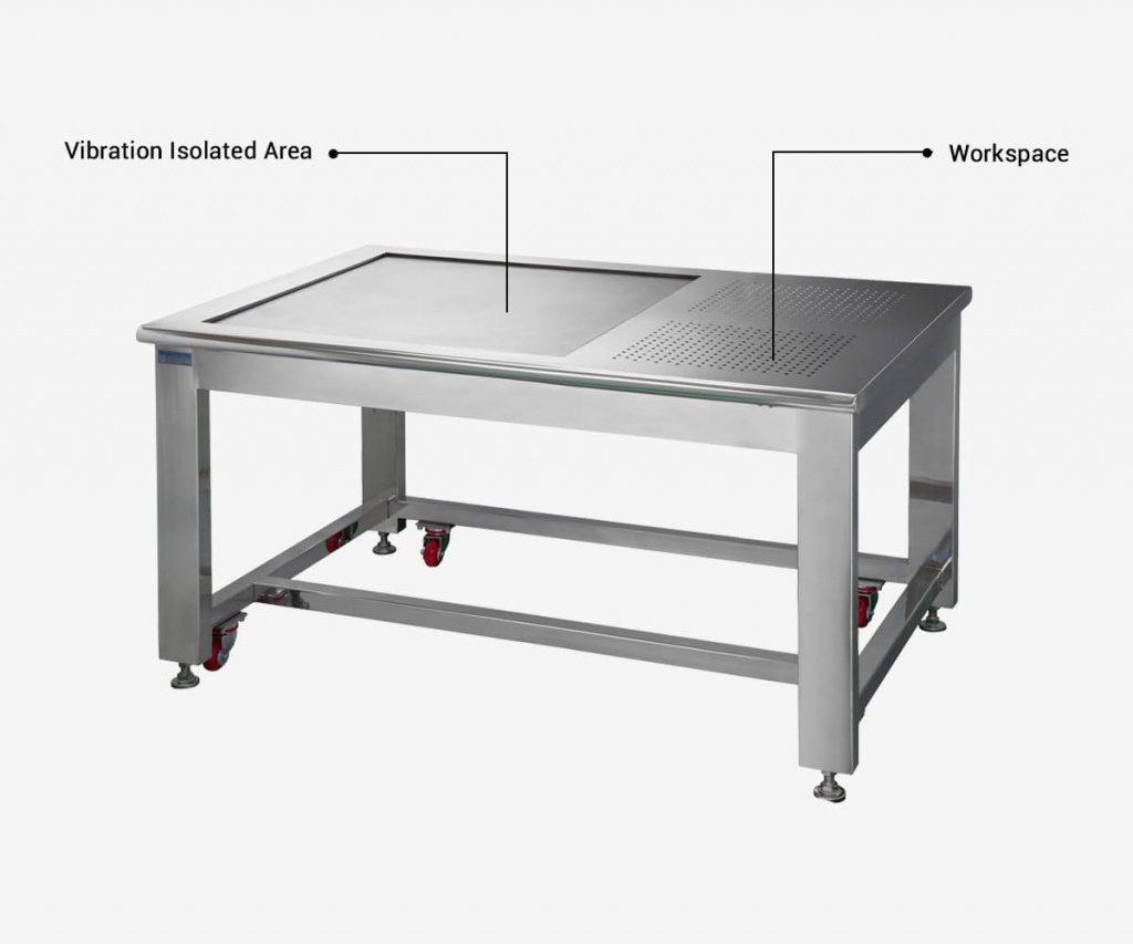 DVID-C-Cleanroom-Vibration-Isolation-Workstation-with-Workspace