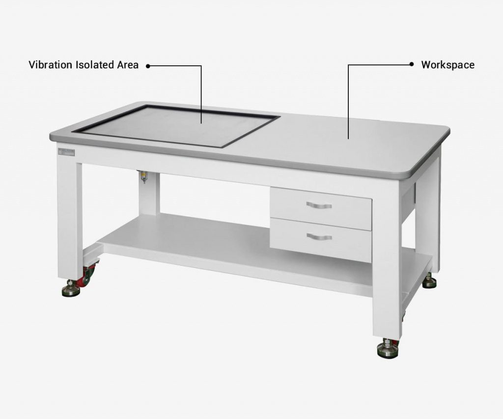 Lab-Vibration-Isolation-Workstation-with-Workspace