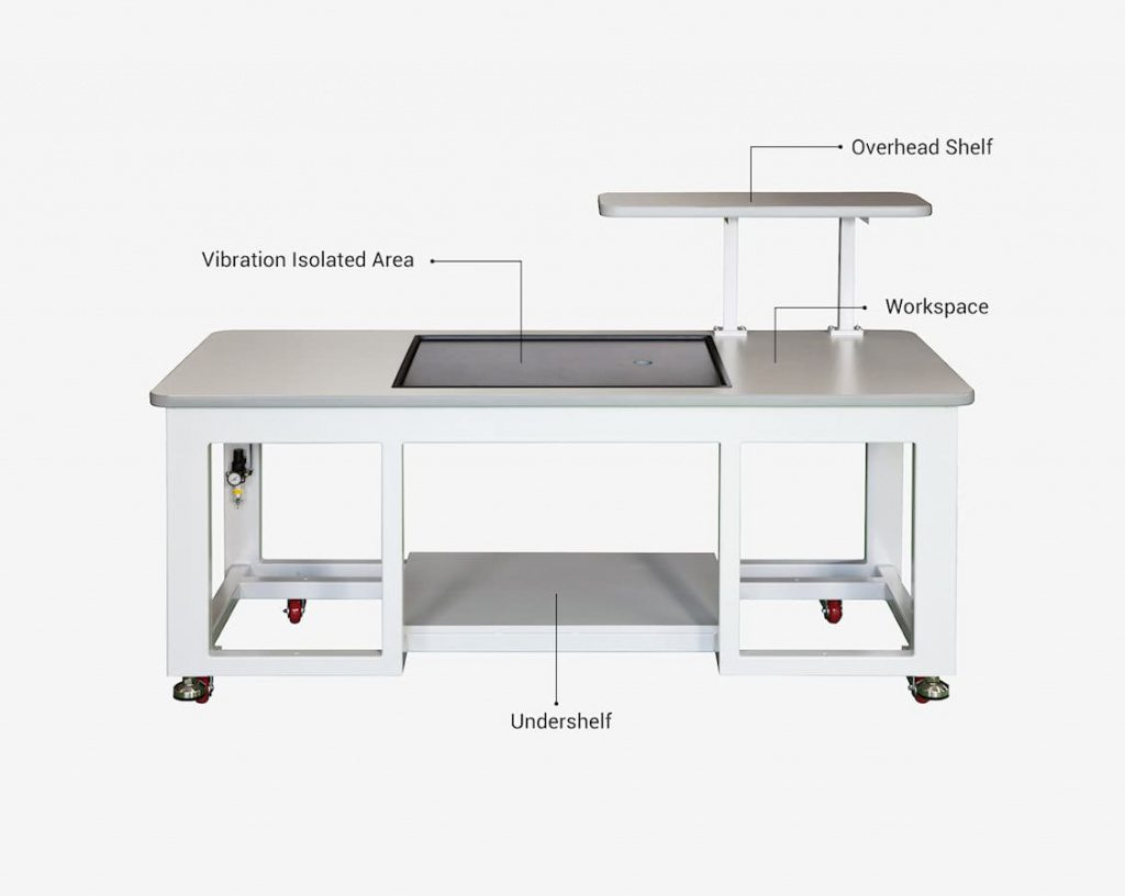 DVID-L Lab Vibration Isolation Workstation with workspace